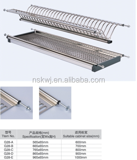 kitchen cabinet stainless steel dish rackplate drying rackdish holder  sc 1 st  Alibaba & Kitchen Cabinet Stainless Steel Dish RackPlate Drying RackDish ...