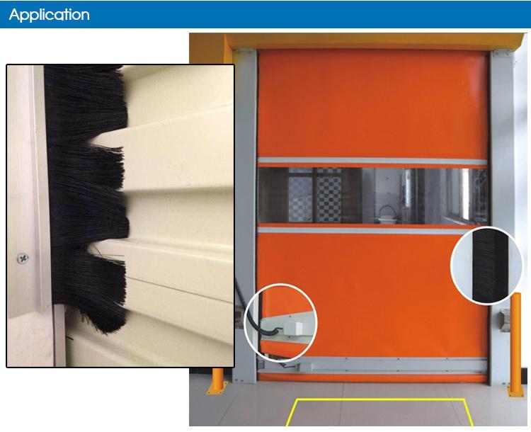 Aluminum Holder Weatherseal Dust Prevention Door Sealing