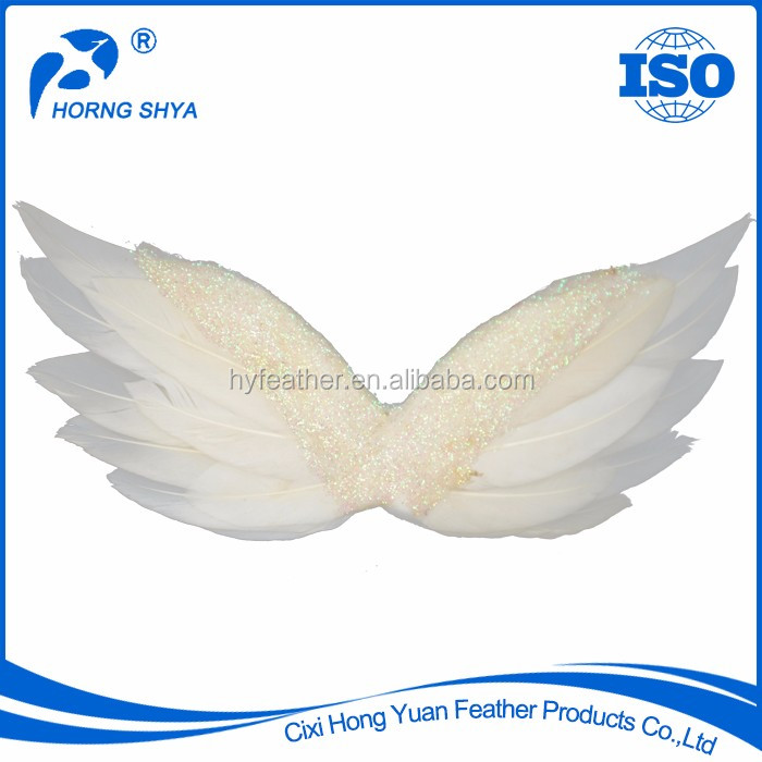 Manufacturer Wholesale K2585 Fashion High Quality Popular Decorative White Angel White Feather Wings