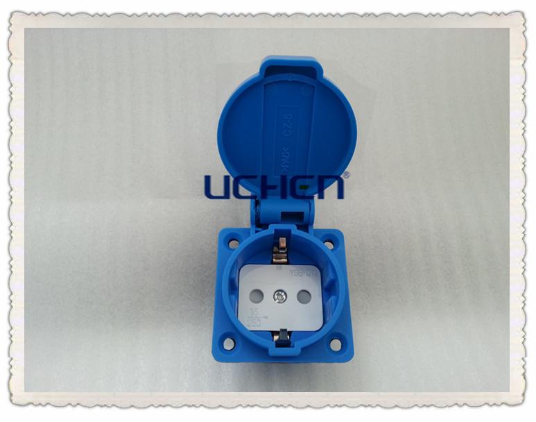 16a Germany Waterproof Socket Ip44
