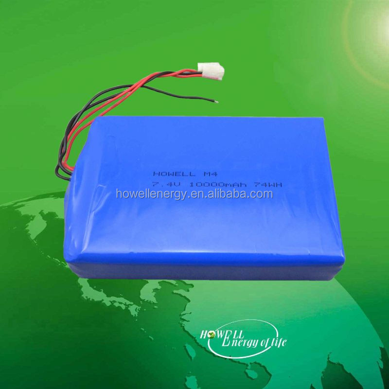 SGS approved China Supplier 7.4v 10ah lithium/li-ion battery pack 7.4v/portable lithium polymer batteries