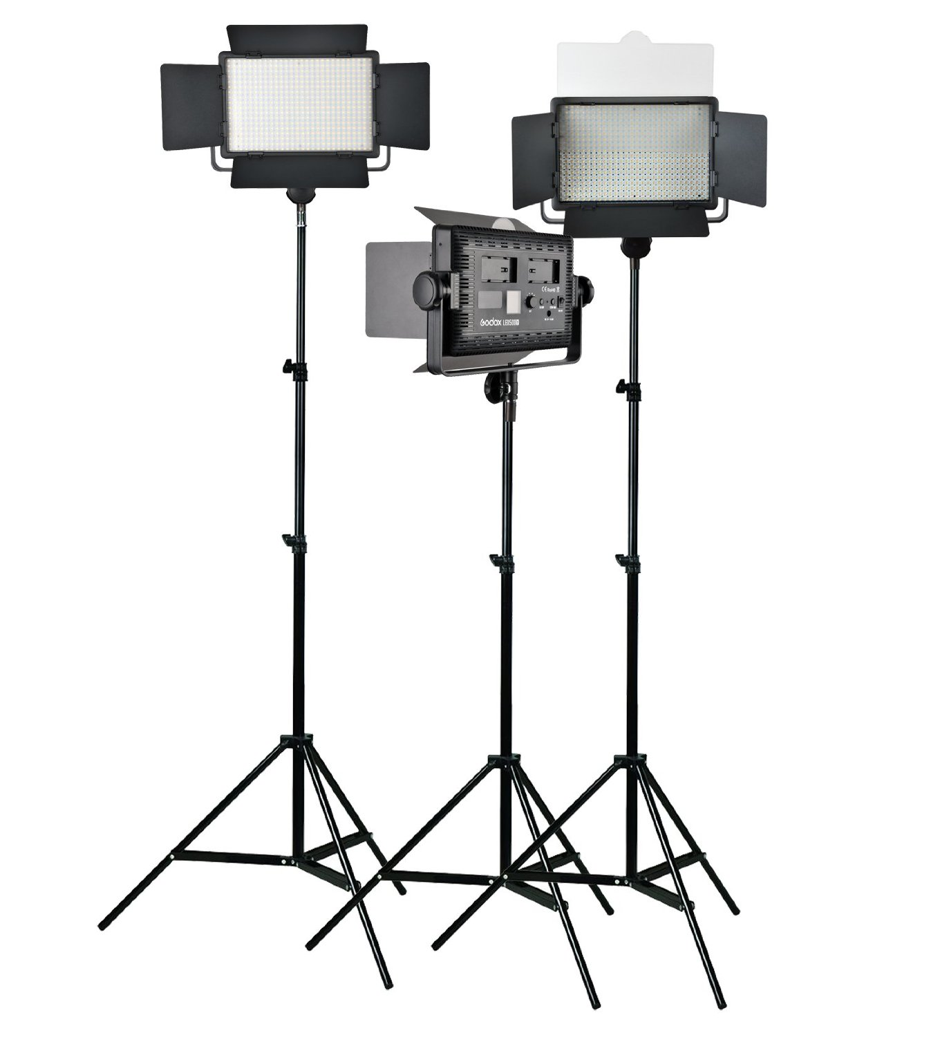Godox LED500Y Light Panel Photo Film Video Photography Continuous Lighting Kit for Photography Photo Studio Pack of 3