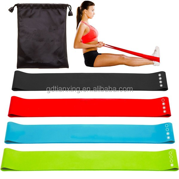 Exercise Resistance Loop Bands - Set of 5, 12-inch Workout Bands - Best for Stretching, Physical Therapy and Home Fitness