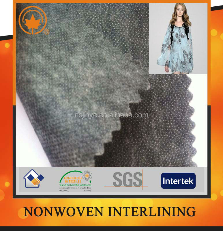 nonwoven fusing paper interlining fabric with Oeko-tex 100