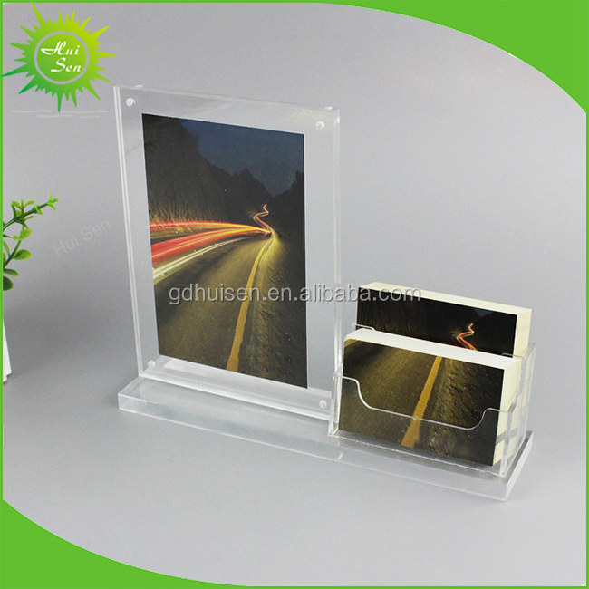 High Clear Acrylic Menu Holder Stand with pocket