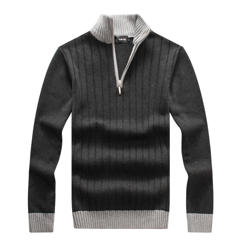 Fashion men pullover brand peru ugly cashmere wool male long sweater dress polo shirt coat with print half zip man 4xl clothing