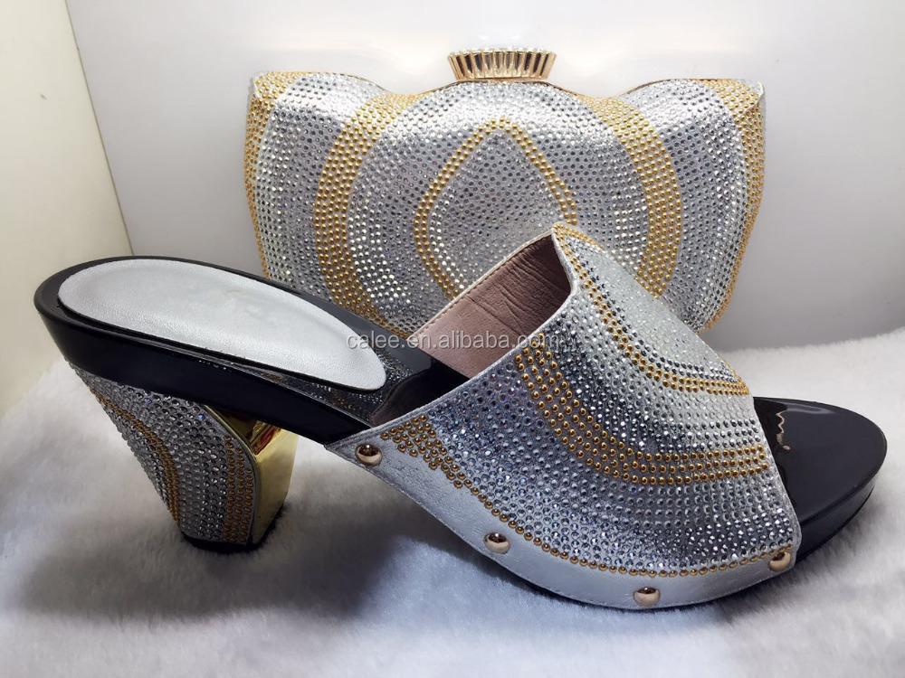 Italian And Set Women With Bags Fashion Rhinestone Matching On Shoes Shoes Wedding AqCUSxw
