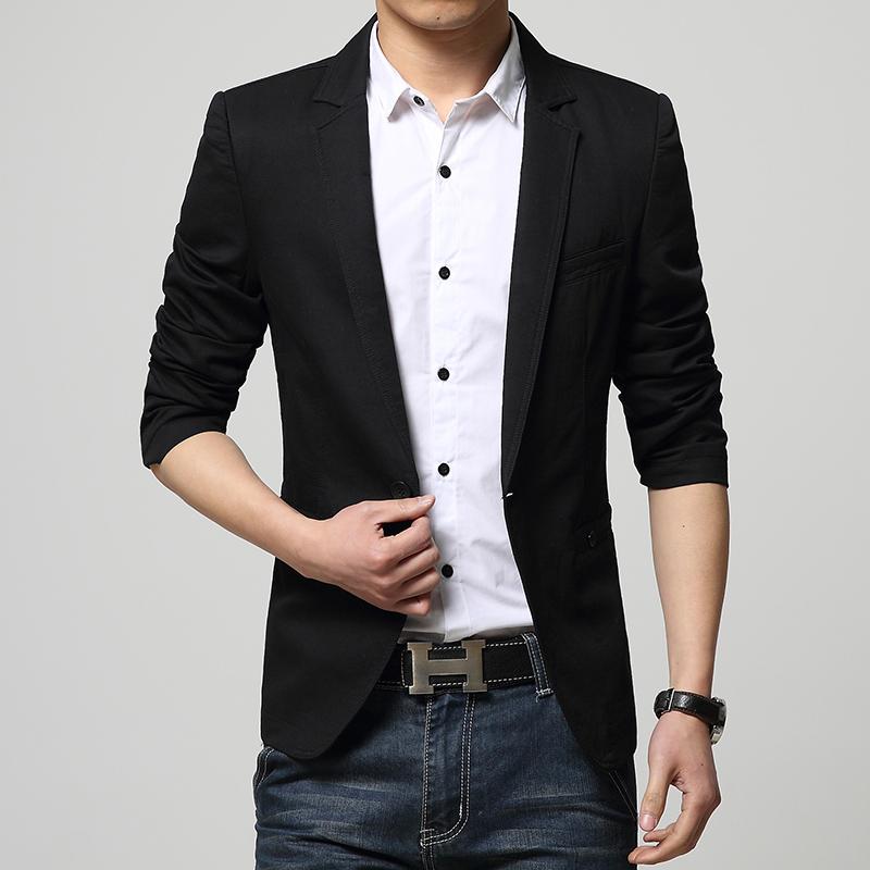 Casual Fit Men Suit Blazer Veste Arrival Slim Homme New 2015 xpf4vOq