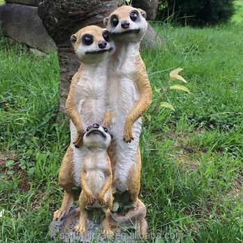 Suricate Famille D\'animaux Décoration De Jardin Résine Suricates Figurines  - Buy Figurines Meerkat,Figurine Animale,Figurine En Résine Meerkat ...