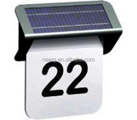 Cheap Solar Powered Stainless Steel LED Doorplate Lamp House Number and Letters Light