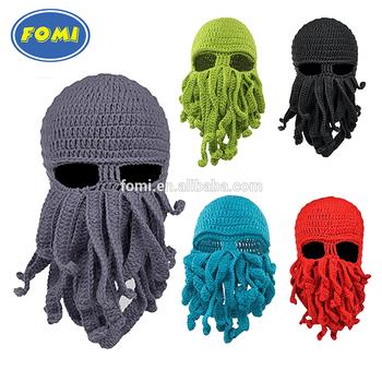 Custom Fashion Knit Face Mask Octopus Ski Mask Crochet Hat Buy
