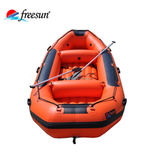Heavy duty double floor river boat white water rafting 8 persons inflatable raft drifting boat