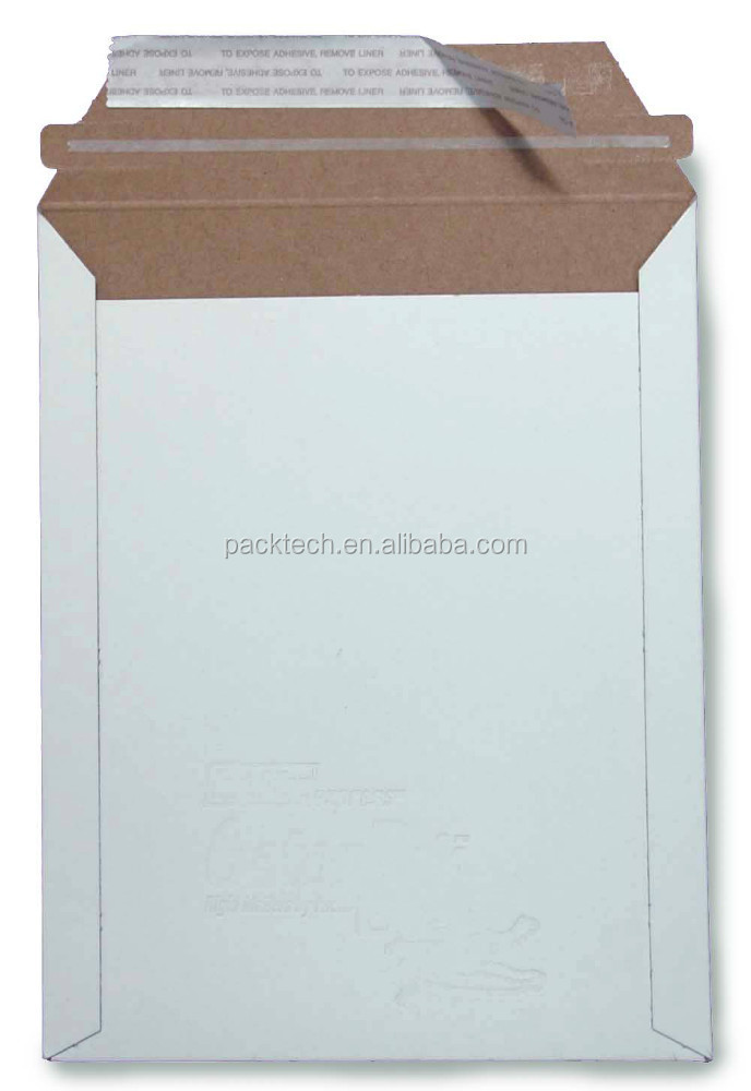 Rigid stay-flat Photo mailers,cardboard envelope for Uk