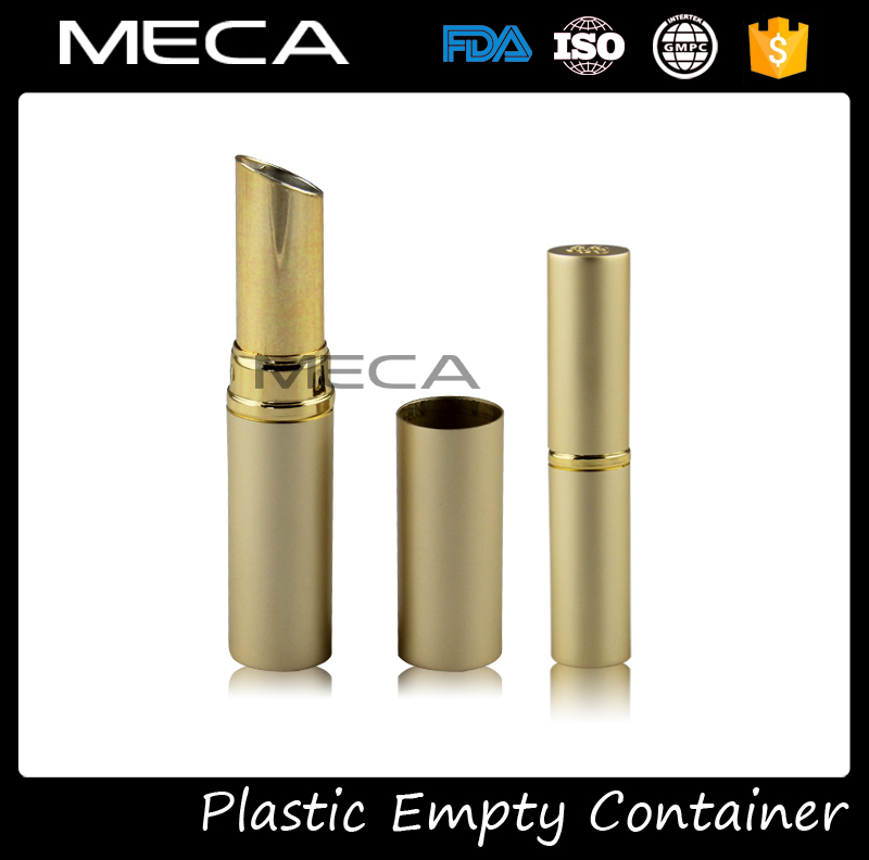 wholesale cosmetic package empty gold lipstick tube container case