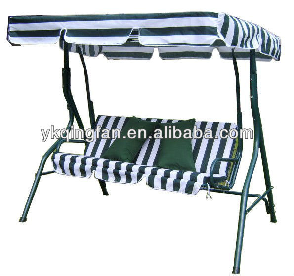 3 seater metal porch swing QF-6301