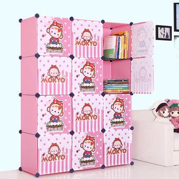 Portable Closets For Clothes Wardrobe Freestanding Cute Cartoon Storage  Organize