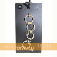 China custom high quality PP black cards Jewelry ornament packaging