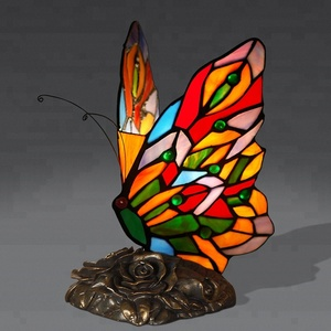 Handcraft stained glass lamp indoor home decorative table lighting tiffany animal lamp