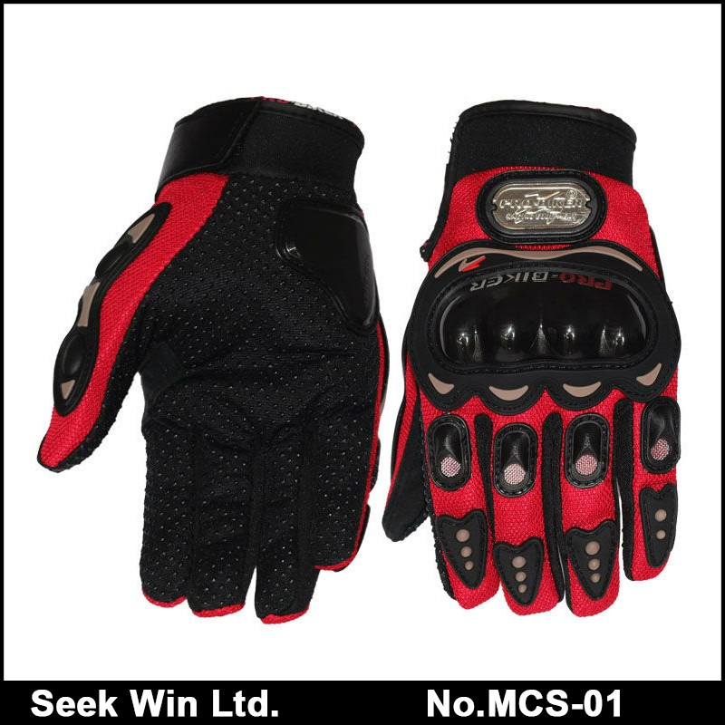 Popular Racing Armored Riding Motorcycle Gloves Pro Biker MCS-01C