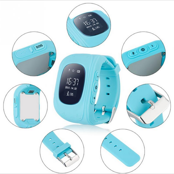 GPS Tracker Kids Smartwatch Wrist Sim Smart Watch Phone Anti-lost SOS Gprs for Kids Children Bracelet Parent Control