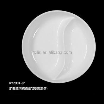 Promotional Ivory White Porcelain Ceramic Ided Plate