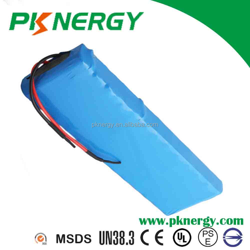 Rechargeable batteries18650 48V 2900mAh lithium ion battery pack with PCM and wire