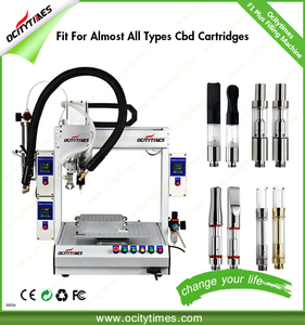 New trending Ocitytimes oil vaporizer e cig hemp oil cartridge syringe filling and plugging machine