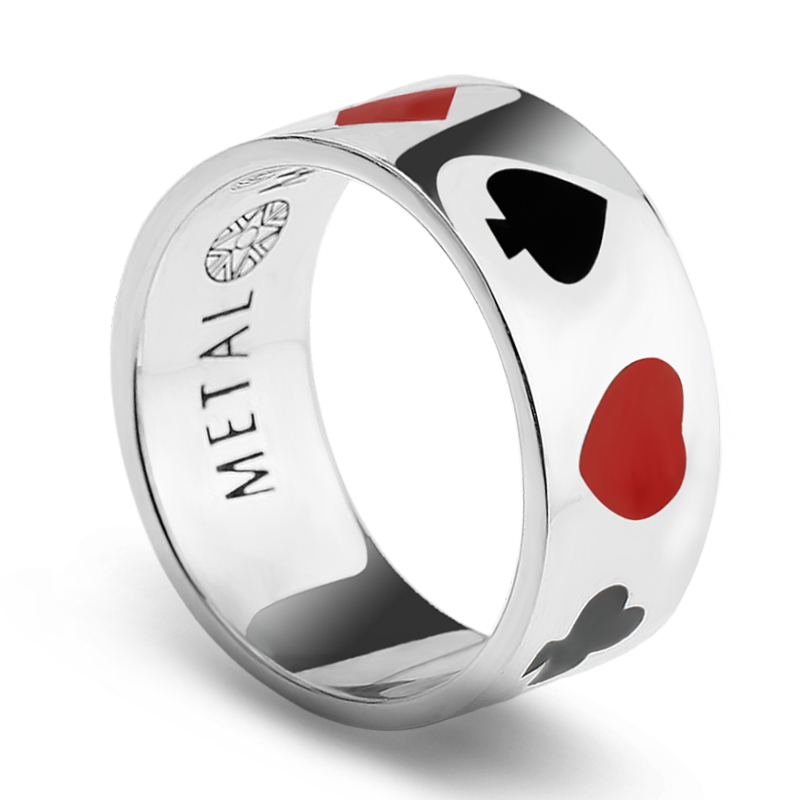 Engraved 925 silver jewelry unisex jewelry men ring 925 sterling silver poker band ring