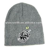 Trendy design custom knitted funny winter ski hat