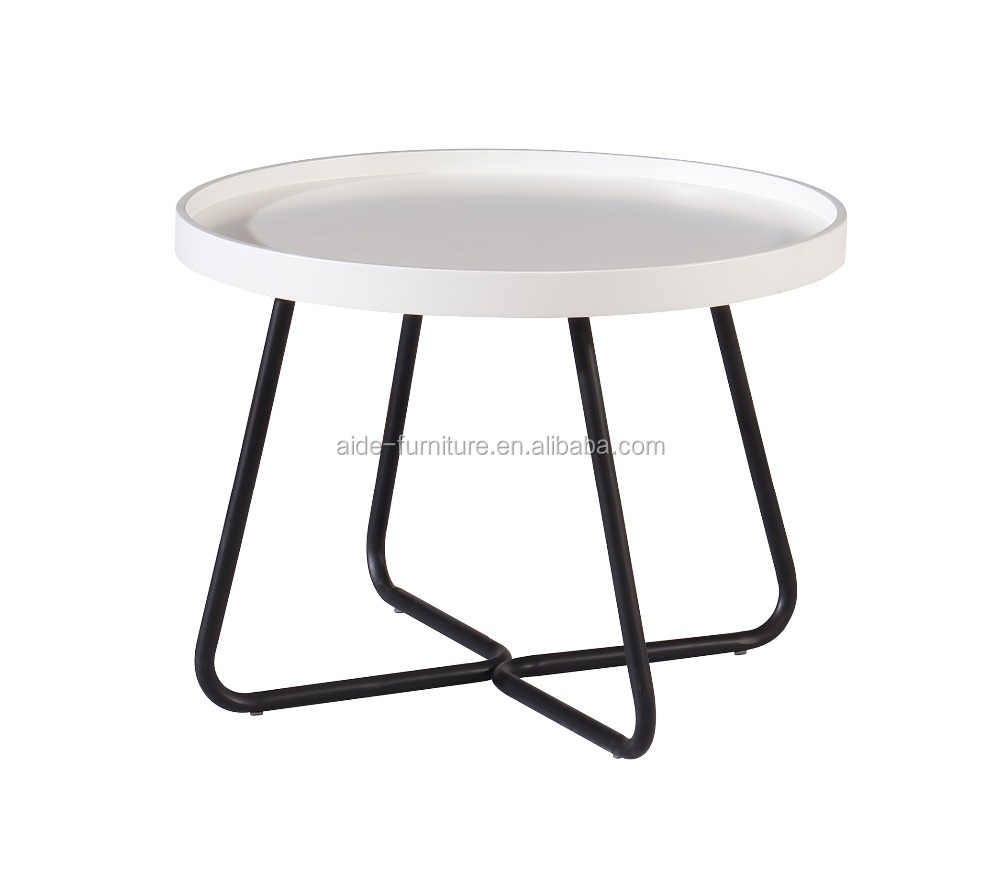Newest design metal leg coffee table for living room sofaside table