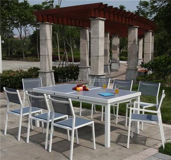 Sedie Da Giardino Alluminio.Esterno In Alluminio Mobili Polywood Tavolo Allungabile E Sedie Da