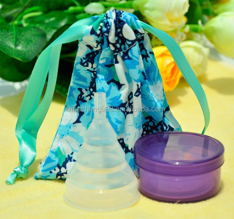 Wholesale price silicone Collapsible and Reusable menstrual cups