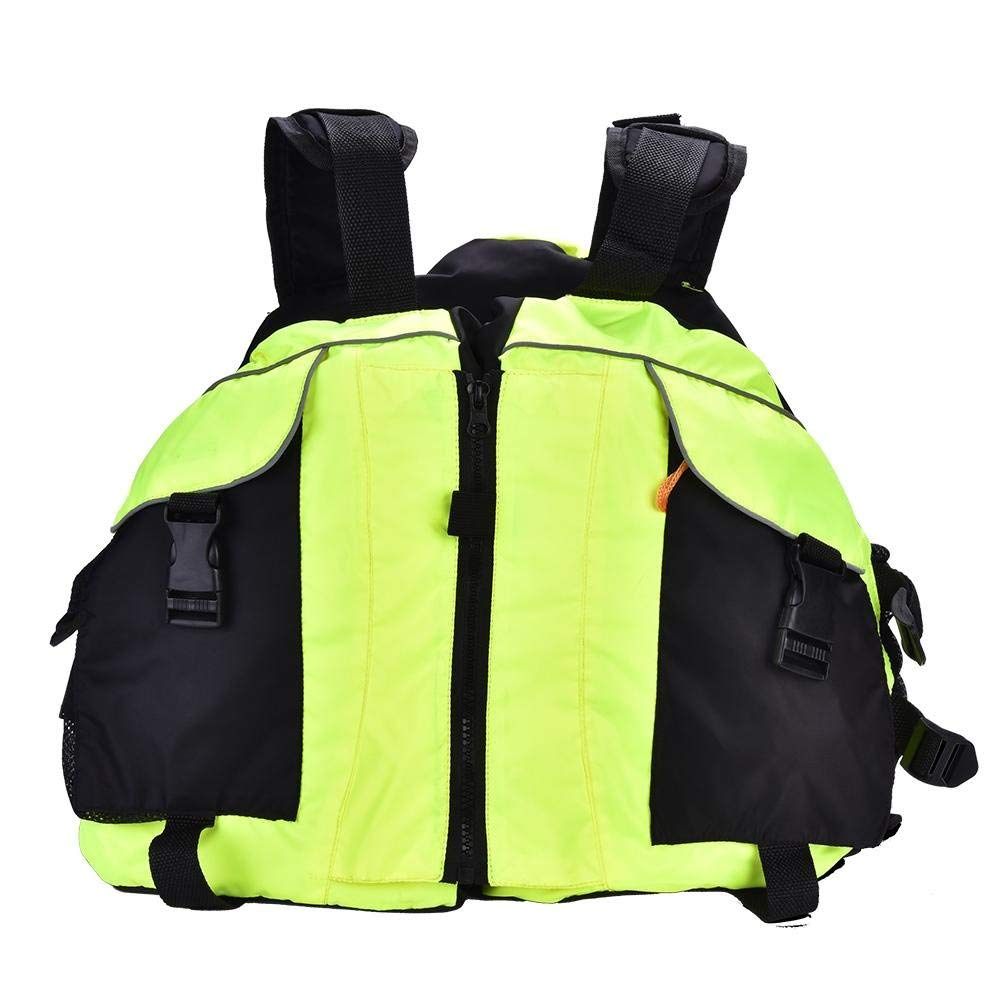 Fishing Life Jacket Vest, Adult Watersport Lifesaving Vest for Swimming Fishing Sailing Drifting