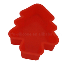 Hot-Selling tree shape Oven Rubber Pies tray Collapsible silicone Soap Mold For Homemade