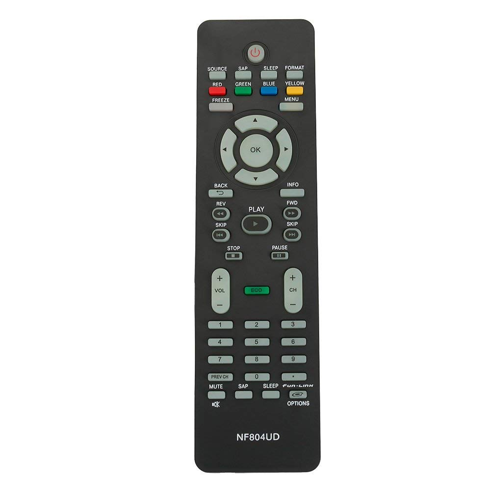 New NF804UD Replaced Remote fit for Magnavox TV 19MF330B/F7 32MF301B 32MF301B/F7 19ME360B 19MF330B 22MF330B 22ME360B 26MF330B 32MF330B 40MF430B 46MF401B 46MF440B 19ME301B 19ME601B 19MF301B 19MF301D