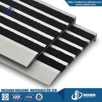 Metal Stair Parts Abrasion Proof Carborundum Trim Step Safety Edging