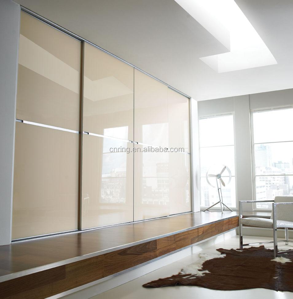 Moderne 3 schuifdeur slaapkamer kast ontwerp van romige witte ...