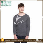 Custom round neck grey/black S/M/L/XL/XXL for sale cotton jumper sweater man