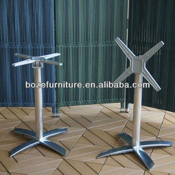 New Design Aluminum Folding Table Baseoutdoor Table Base With - Outdoor table legs and bases