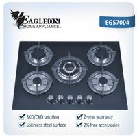 EG57004 CE 70cm temper glass built-in gas stove/ gas range/ gas fire/ gas oven/ cooktop/ range master/ 5 Sabaf burners