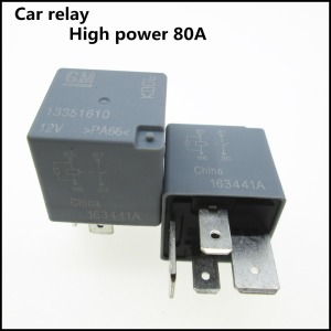 NEW car AUTO 12V relay Fuse box relay GM-13351610 12V 13351610 GM13351610 13351610-12V 12VDC DC12V 12V 80A 4pin