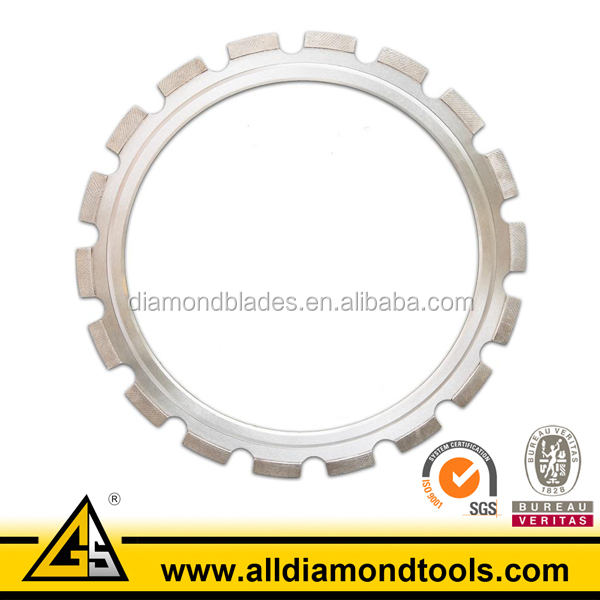 Laser Welded Arix Diamond Ring Saw Blade With Guide Wheel