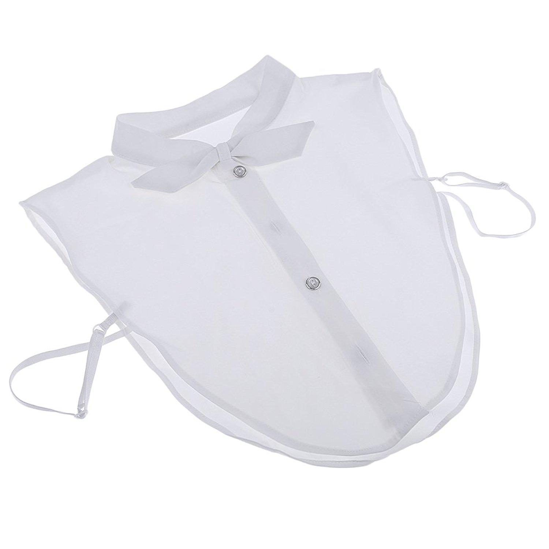 Prettyia White Ladies Girls Choker Detachable Lapel Shirt Fake False Collar Blous Accessory,Knot