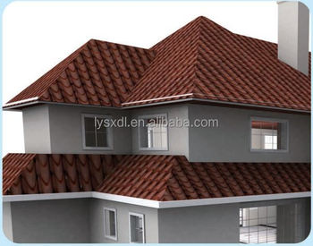 Spanish style stone coated metal roof tiles cheap roofing for Spanish style roof shingles