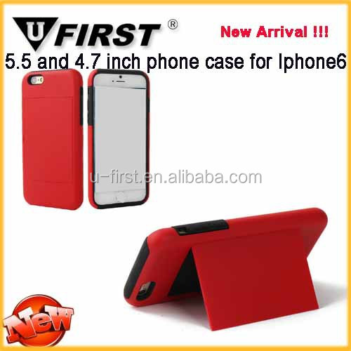 3d design triple bracket phone case for iPhone 6 plus