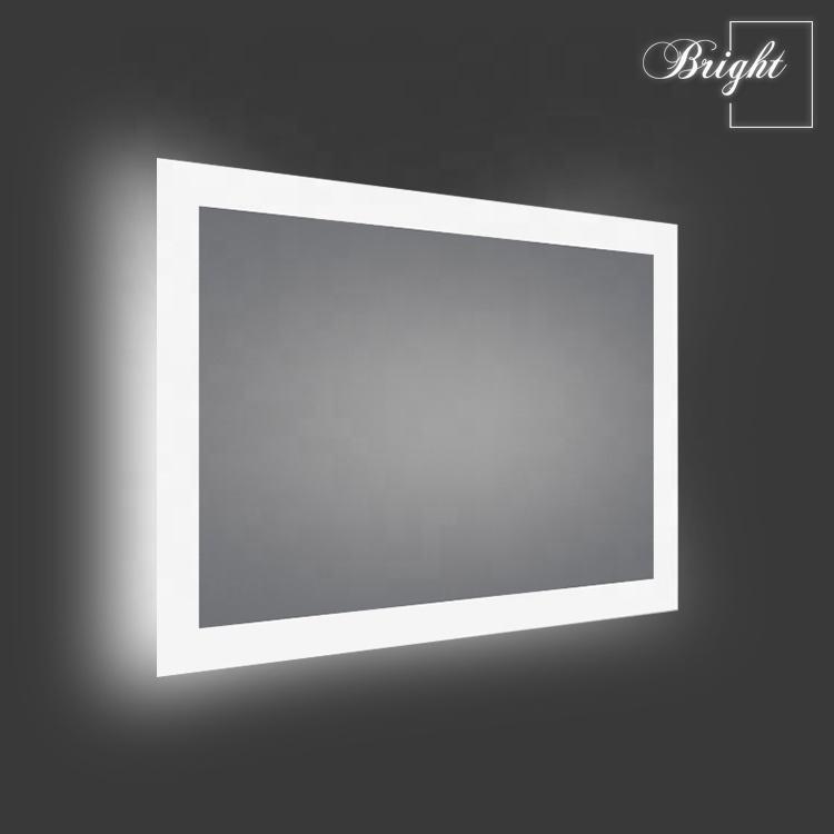 Hotel Frameless Custom LED Illuminated Backlit Light Wall Bathroom Smart LED Mirror