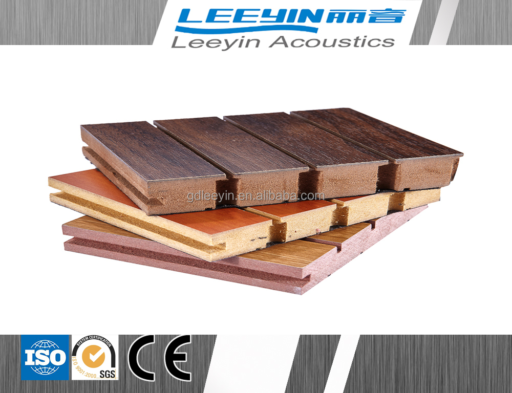 mdf board 18mm wooden acoustic wall panel for office/ airport/ meeting room