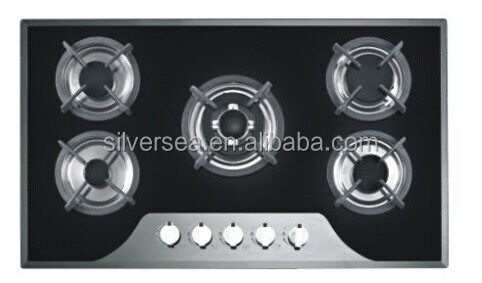 New design! Home appliance 5 burners Stainless steel gas burner cooking range/kitchen appliance gas hob
