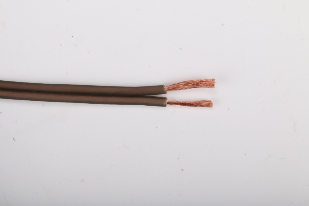 High end brown speaker cable paired 12/14GA speaker wire for audio