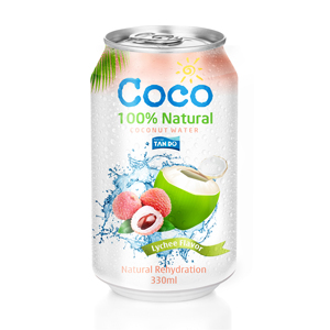 Vietnam coconut water drink export to Dubai market with HALAL certificate  canned tin lychee flavor